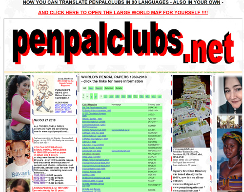 SIGNAL PENPAL MAGAZINE - 50 000 ADS - YOUR LISTING FREE ! http://www